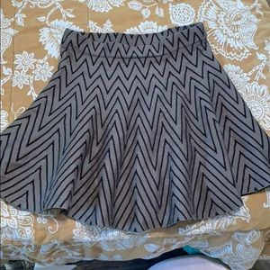 A crinkle black and gray skirt